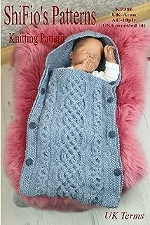 Knitting Pattern - KP386 - baby sleeping bag cocoon - 0-6mths