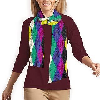 Rhombus Stripes Strokes And Splashes Fashion Long Shawl Scarf Winter Warm Long Scarf