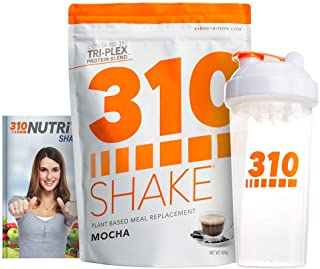 Mocha Plant Protein Powder and Meal Replacement Shake | Gluten, Soy Protein, and Dairy Free - 0g of Sugar | Keto and Paleo Friendly | Includes Clear Shaker and Recipe eBook (Digital) | 28 Servings
