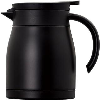 Atlas アトラス 飛び散りにくい注ぎ口の ステンレス コーヒー サーバー 0.8L ブラック ACS-802BK Coffee 珈琲 卓上 ポット 真空 断熱 2重構造 ダブル ステンレス