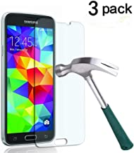 Galaxy S5 Screen Protector,TANTEK [Bubble-Free][HD-Clear][Anti-Scratch][Anti-Glare][Anti-Fingerprint] Premium Tempered Gla...