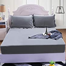 Waterproof bed sheet, mattress cover, bed sheet, one-piece mattress protector, solid color, waterproof bed cover, mattress...