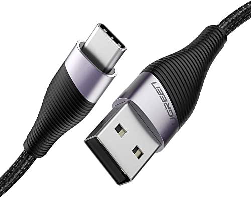 discount UGREEN USB Type C Cable USB A 2.0 2021 to USB C Fast Charger Nylon Braided Compatible for Samsung Galaxy S20 discount S10 S9 S8 Plus Note 9 8, LG G8 G7 G6 G5 V20 V30, iPad Pro 2018 (1.5FT) outlet sale