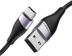كابل يو جرين يو إس بي C 3A كابل شحن سريع مجدول من النايلون USB نوع C متوافق مع Huawei P20 Lite Mate 20 Pro P20 Samsung S10 Plus S9 S8 Note 9 LG G5 G6 Xiaomi Mi A2 Mi 9 إلخ 0.5M