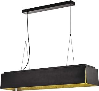 SLV AVENTO 110 PD, lampa wisząca LED do wnętrz, czarna/złota, 3000 K, lampa aluminiowa 28 W