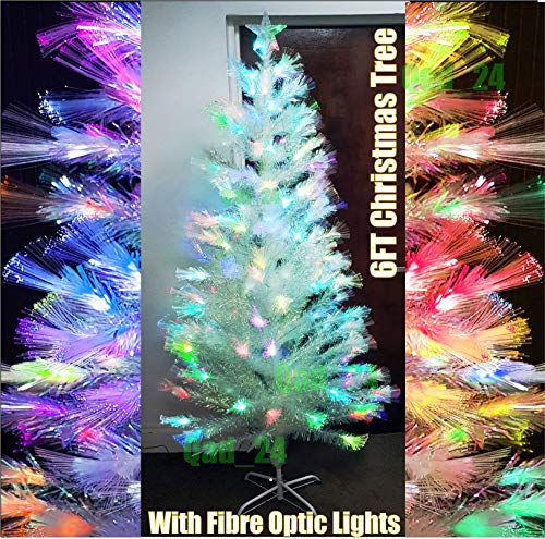 Albero di Natale artificiale in fibra ottica, 180 cm,...