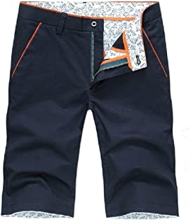 Energy Men's Loose Fit Cotton Zip Up with Pocket Swim Shorts Trunks