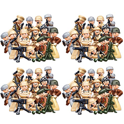 12che War Minifigure Set Seconda Guerra Mondiale Minifigure con Arma per Bambini