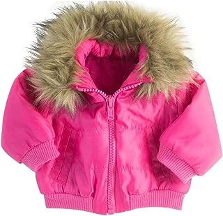 18 Inch Doll Jacket in Fuchsia Pink Puffy Jacket W/ Faux Fur Trim Collar Fits 18 Inch American Girl Dolls & More! Doll Coat Fuchsia Puffy Jacket & Fur Collar