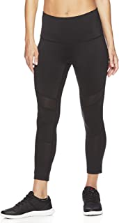 Women's Capri Workout Leggings w/High-Rise Waist - Cropped Performance Compression Tights