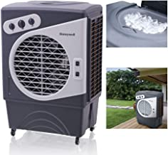 Honeywell 1540-2471 CFM Outdoor Portable Evaporative Cooler with Triple-Sided Honeycomb Cooling Pad, CO60PM, Gray
