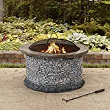 Best Sunjoy Outdoor Fireplaces - Sunjoy Bianca Stone 32 in. Round Wood Burning Review