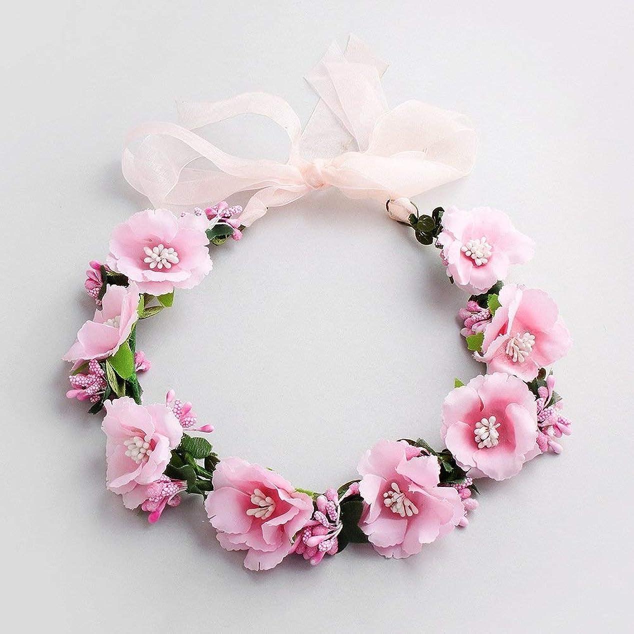 友情西部海里LUOSAI フラワーヘアピンヘッドバンド女性の髪の櫛ファッションアクセサリー(ピンク)ヘアピン