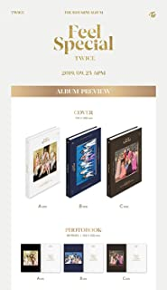 JYPE JYP Entertainment Twice - Feel Special (8th Mini Album) Random ver. CD+88p Photobook+Lyrics Paper+5Photocards+Gold Photocard+Folded Poster+Double Side Extra Photocard+Kpop Idol Mask(Store Gift)