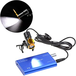 Alkita 5W LED Headlight Lamp Clip-on Type with Filter for Binocular Loupe Blue Metal Clip DY-007