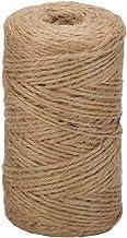 EDATOFLY 100m/2mm Jute Touw Touw, Jute Koord Twine Tuin String Jute Touw Hennep voor Geschenkverpakking Tuin Pakket Verpak...