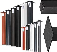 HOLZBRINK Vierkante poot voor tafel gemaakt van profielen 80x80 mm, hoogte 90 cm, Grijs antraciet, 1 Stück, HLT-14A-J-90-7016