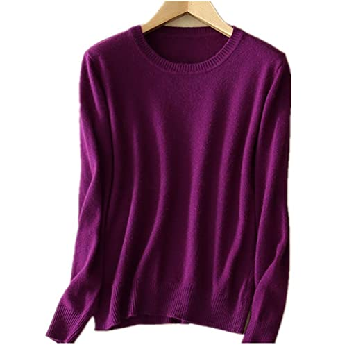 MMYOMI Womens Ladies Round Neck Cashmere Knitwear Long Sleeve Pullover  Blouse Jumper Tops Knitted Sweater f133b0d2bdbf
