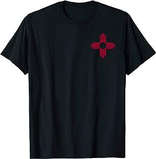 New Mexico Zia Sun Symbol Pocket Design Red Zia Sun Alone T-Shirt