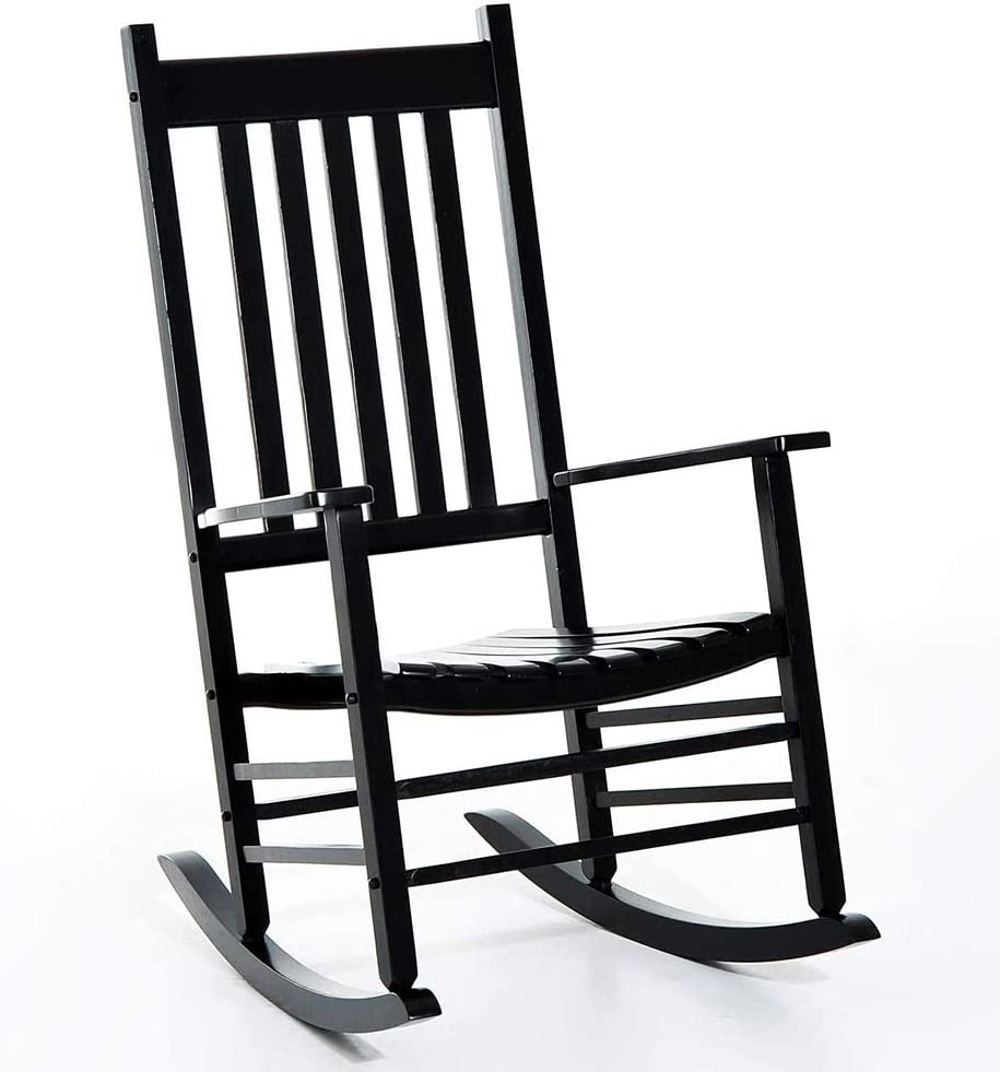 MYL Black Wooden Rocking Chair Porch - Heavy Max 57% OFF S for Rocker famous People