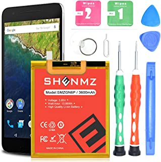 Nexus 6P Battery,AexPower 3600mAh (Upgraded) Li-Polymer HB416683ECW Battery Replacement for Huawei Google Nexus 6P H1511 H1512 with Tools   Nexus 6p Battery Replacement Kit [24 Month Warranty]