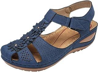 Chaussures Femmes Filles Confortable Cheville Creux Bout Rond Sandales Semelle Souple