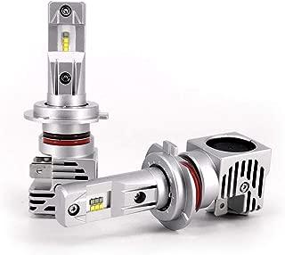 New World Motoring ZES H7 10000LM LED Headlight Conversion Kit Bulbs,  High Beam Low Beam headlamp,  Fog Light,  HID or Halogen Head Light Replacement,  6500K Xenon White,  1 Pair- 1 Year Warranty