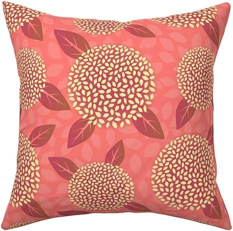 Coral Turquoise Pillow  Aqua Flower Pillow Patio Pillow Reversible Outdoor Flower Pillow Porch Pillow Stripe Pillow Outdoor Pillow