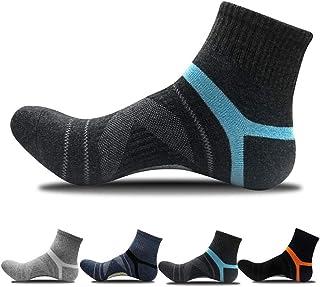 JEPOZRA, 4 pares Calcetines Running Hombre transpirable desodorante Calcetines para fútbol baloncesto running ciclismo trekking yoga Runing