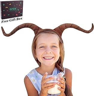 M&G House Ram Horns Headband - Animal Headband Goat Headband for Christmas Halloween Festival Cosplay Headbands