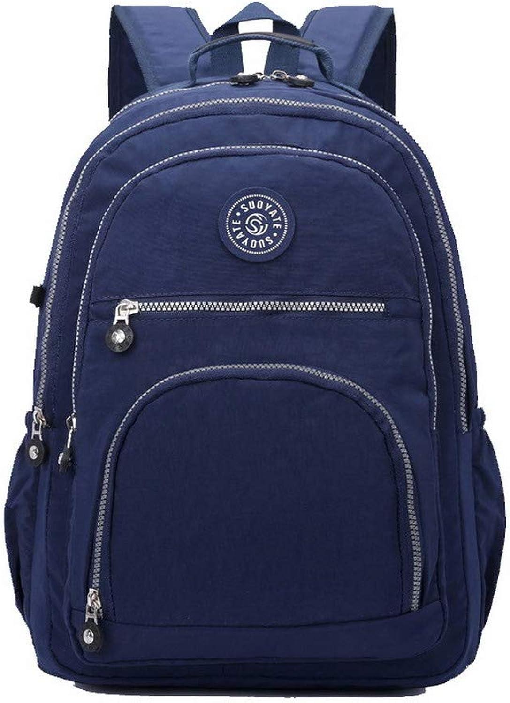 AllhqFashion Women's Casual Zippers Nylon Tote Bags Shoulder Bags,FBUBD188275,Darkbluee