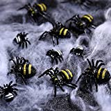 156 Stücke Plastik Realistische Wanzen, gefälschte Kakerlaken, Spinnen, Würmer und Fliegen für Halloween Party und Dekoration - 7