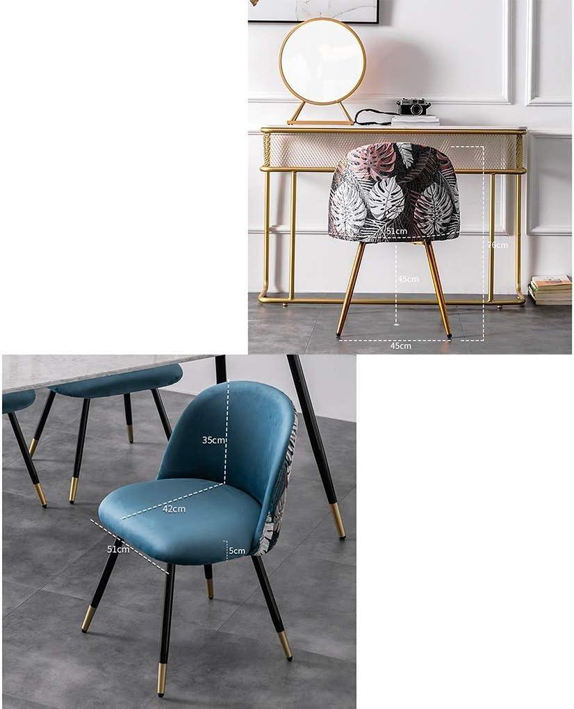 LJFYXZ Chaises Salle Manger Avec des pattes en métal robustes Retour Velvet Living Dossier chaise Tabouret de ménage Convient for la cuisine du salon (Color : Green) Pink