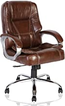 Green Soul Vienna Mid Back Leatherette Office Chair (Brown)