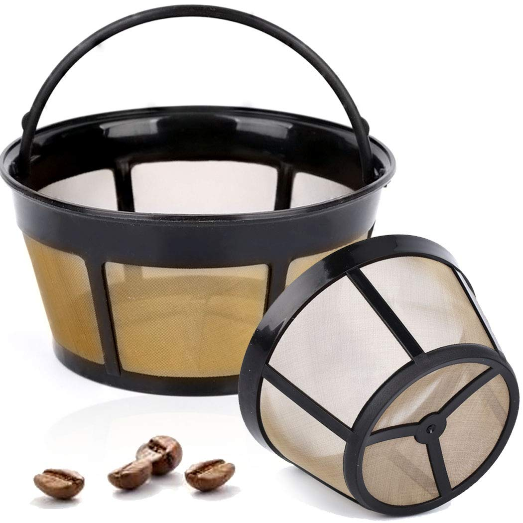 Taktik Gold Coffee Filters Basket Coffee Filter Reusable Metal Mesh Filter Coffee Cone For Most Coffee Machines And Brewers 2 Pack Buy Online In India At Desertcart In Productid 174517667