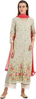 Ethnicity Women Festive Straight Kurta and Palazzo with Dupatta