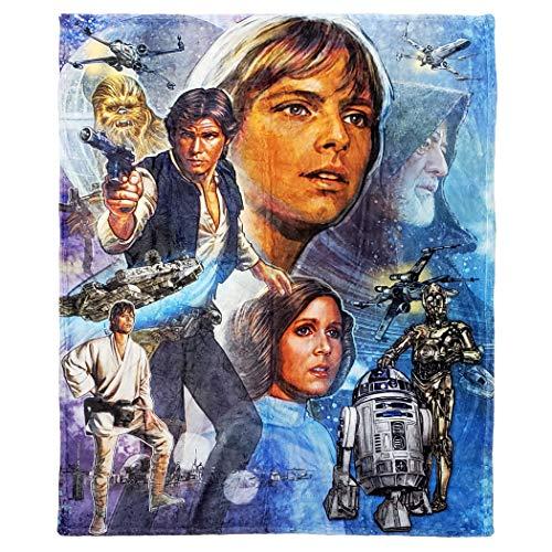 Disney Star Wars A New Hope Überwurfdecke, 127 x 152,4 cm, Mehrfarbig