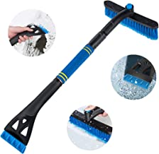 Kyrieval Car Ice Scraper with Brush 2 in 1 Snow Brush for Car