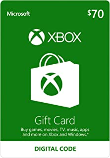 $70 Xbox Gift Card [Digital Code]