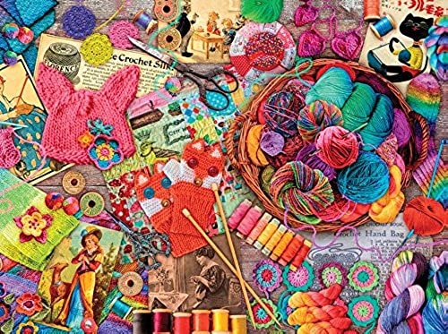 Ceaco Aimee Stewart - Vintage Yarns and Threads Puzzle (1000 Piece)