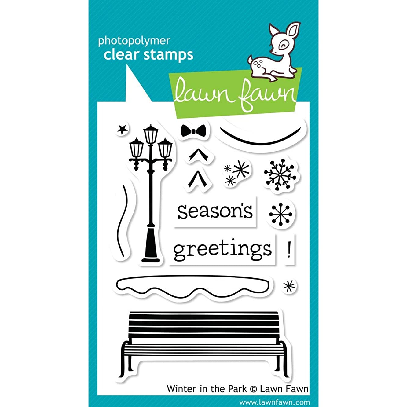 Lawn Fawn Clear Stamps - Winter In The Park #LF570