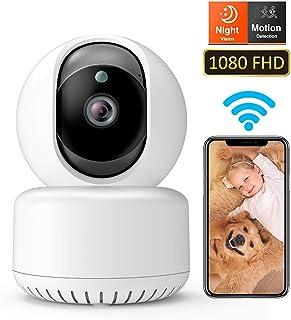 DADYPET Cámara IP WiFiCámara Vigilancia 1080P FHD Cámara Interior con Visión Nocturna Detección de Movimiento Audio de 2 vías Reproducción de Velocidad Vigilancia Seguridad en el Hogar Bebé Mascota