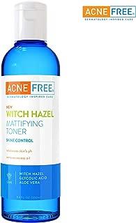 Acne Free Witch Hazel Mattifying Toner 8.4 oz with Witch Hazel, Glycolic Acid, Aloe Vera, Toner to Help Rebalance Skin's pH and Remove Excess Oil