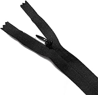 YKK 8 inch Invisible Zippers or Concealed Zippers by Pack of 10 pcs, SP-2693 (Black)