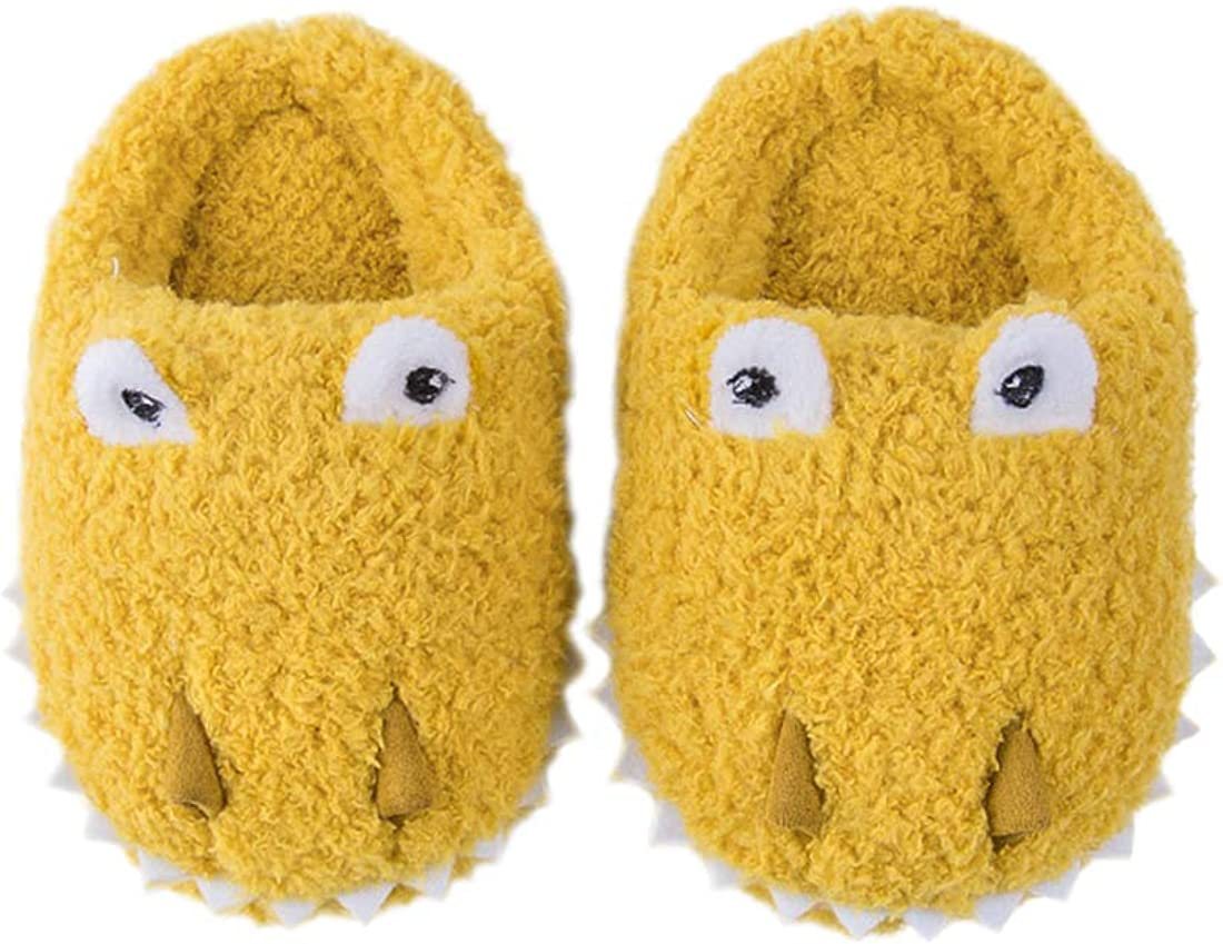 FCTREE Dinosaurs Slippers Household Anti-Slip Indoor Home Shoes for Girls and Boys