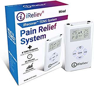 iReliev TENS Unit Electronic Pulse Massager & (8) Electrodes Pain Relief Bundle-100% Satisfaction or 14 Day $$ Back Guarantee. 2 Year Warranty.