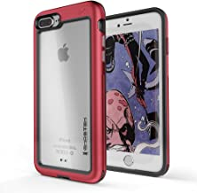 Ghostek Atomic Slim Case Wireless Charging Compatible with iPhone 8 Plus / 7 Plus - Red