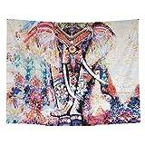 Alfombra, alfombra de piso estilo elefante Yevenr, toalla de playa colgante, alfombra colgante artística, tapiz interior para el hogar(150 * 200cm)