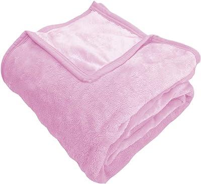 EiYU 毛布 シングル 二枚合わせ 肌触りなめらか フランネル使用 ピンク