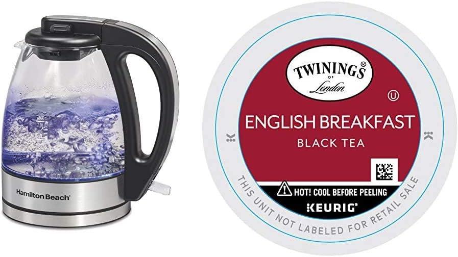 Special price Hamilton Beach Glass Electric Tea Heater Boiler Water Kettle 5 ☆ popular